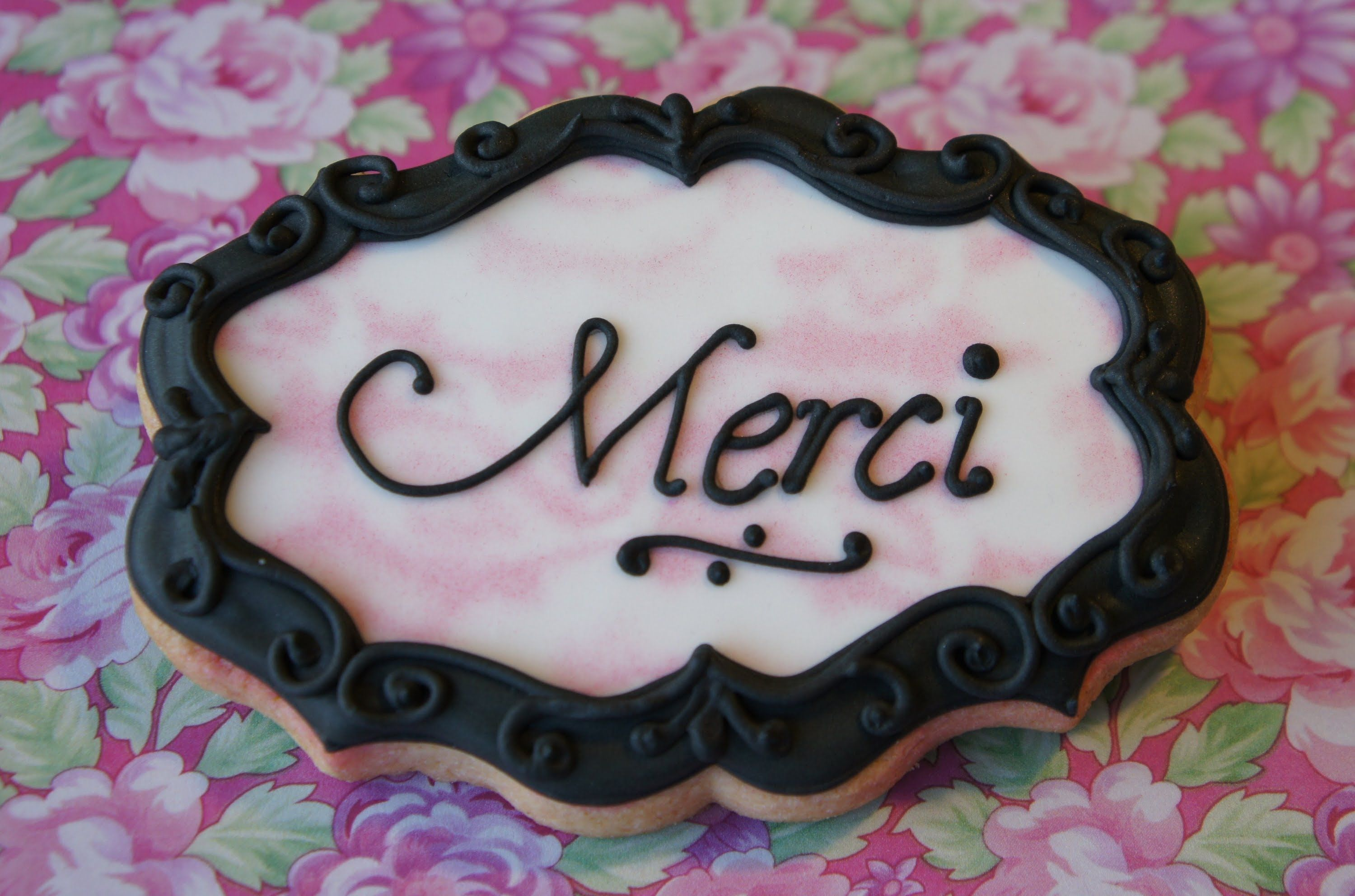 Shabby chic lace cookies - Image transfer without a KopyKake