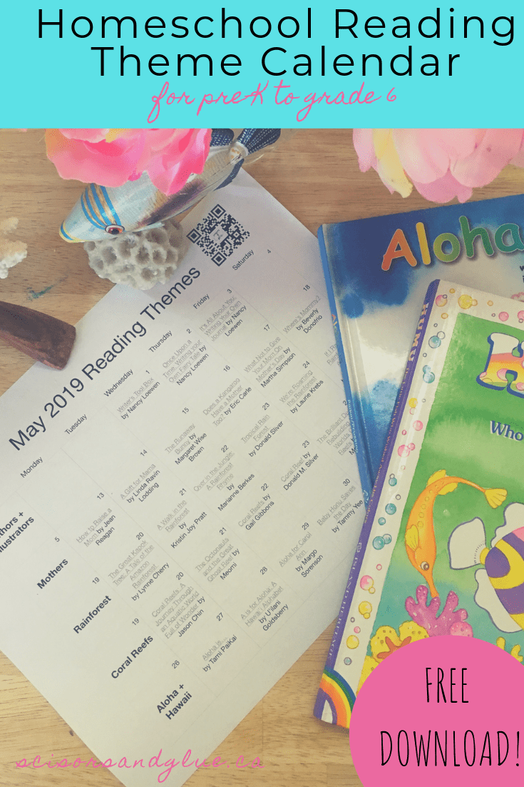 May 2019's Monthly Reading Themes FREE Printable