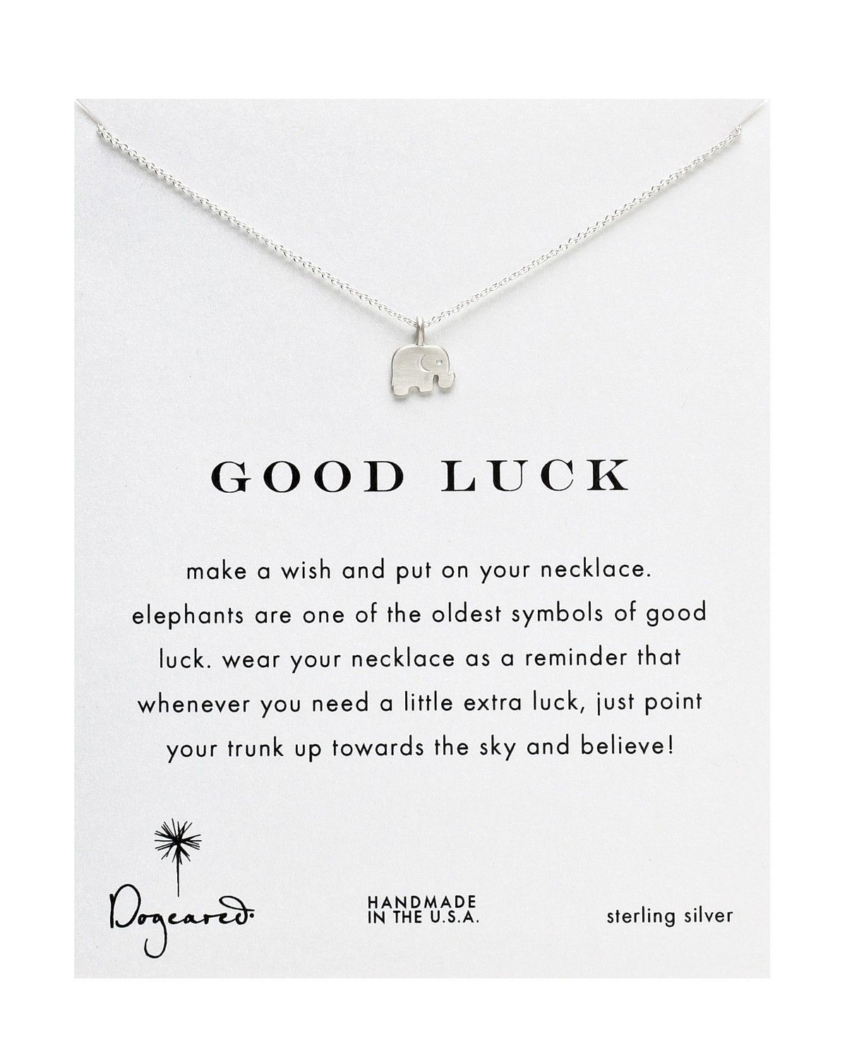 Dogeared good luck elephant necklace bloomingdales dream dogeared good luck elephant 16 sterling silver chain charm symbol necklace new biocorpaavc
