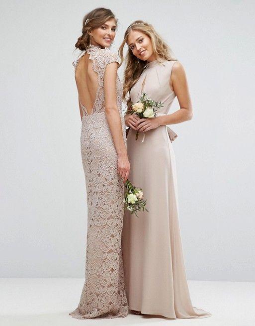 TFNC Tall Wedding High Neck Lace Dress With Cap Sleeve  d4d283867