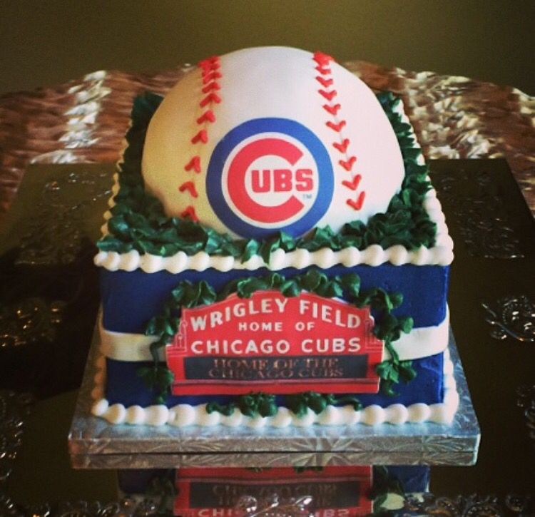 Birthday Cake Cubs Baseball Theme