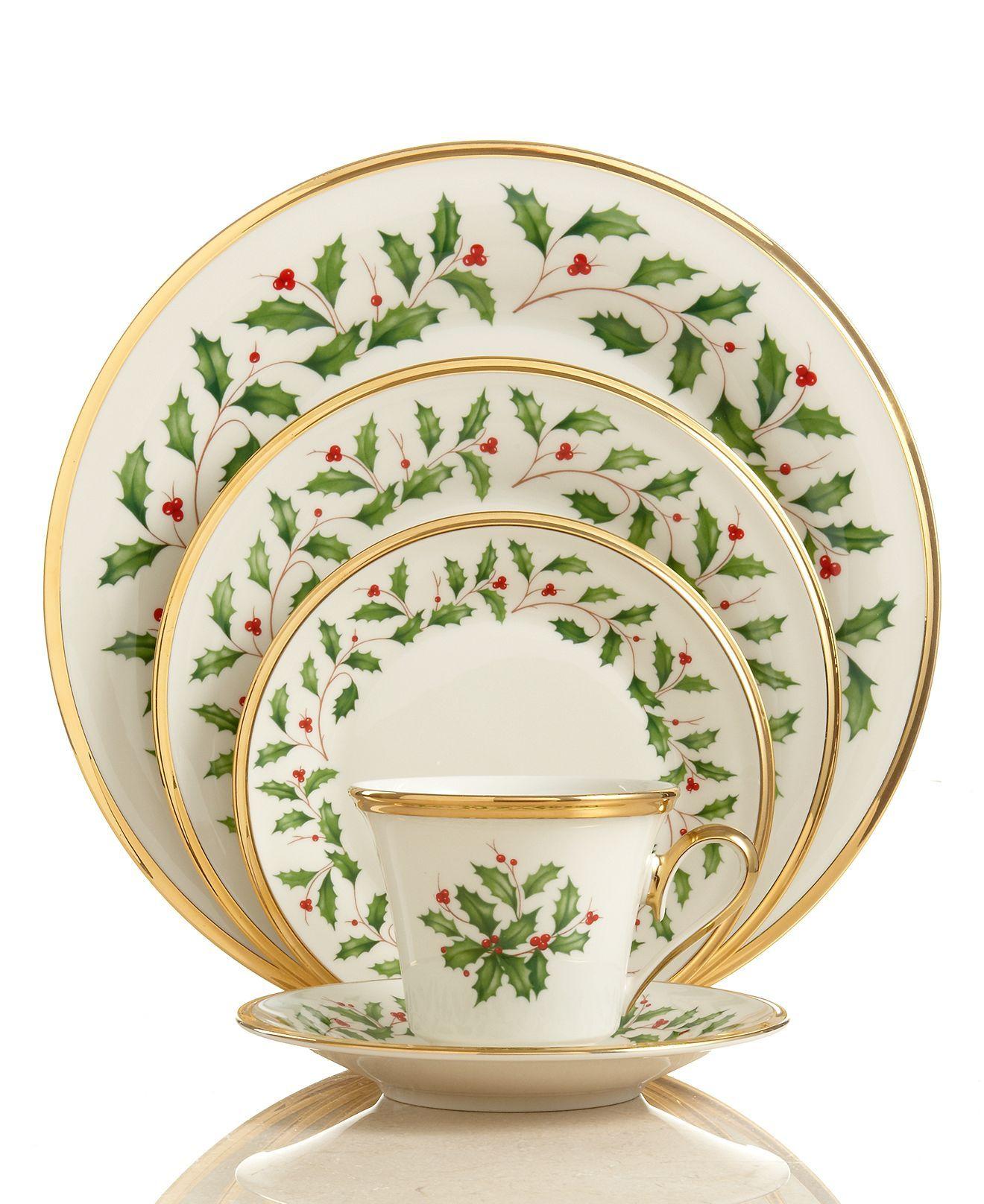 Lenox Dinnerware, Holiday 5 Piece Place Setting  Fine China  Dining &  Entertaining