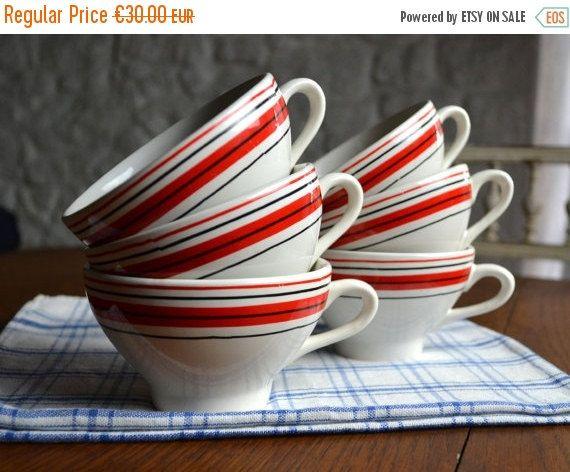 SALE Set of 6 Traditional French Kitchen Bistro Vintage Ceramic Cider Cups Bowls Cidre Breton Ty & SALE Set of 6 Traditional French Kitchen Bistro Vintage Ceramic ...