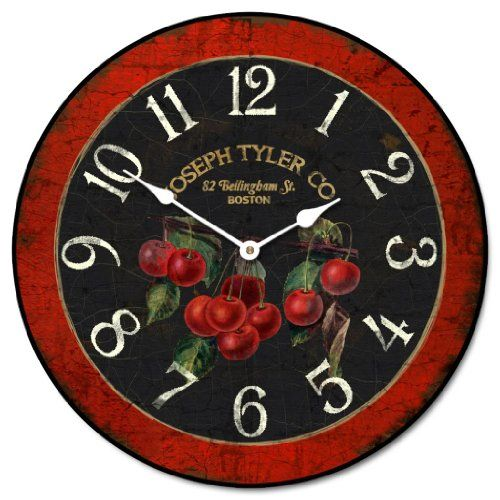 Cherry Wall Clock 10 60 Whisper Quiet Nonticking Continue To The Product At The Image Link Cherry Clocks Clock Wall Clock
