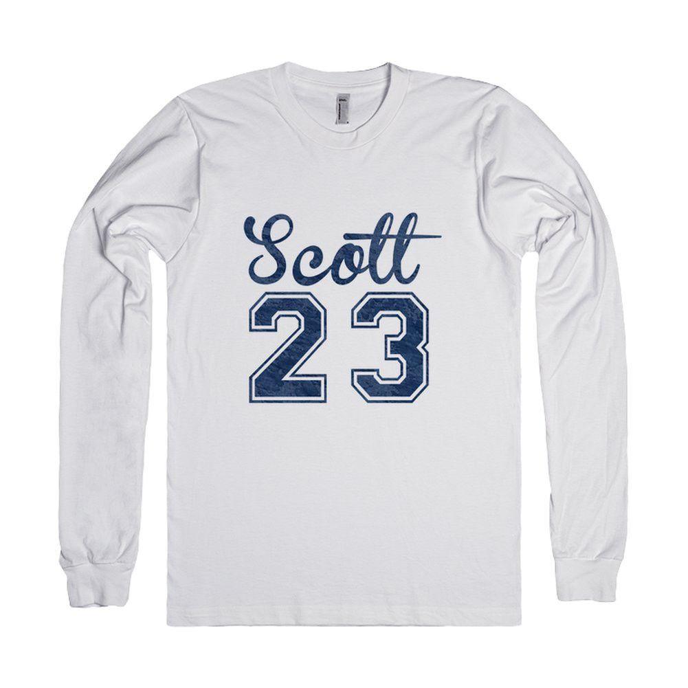 One Tree Hill Burnout Varsity 'Scott 23' - Version 1-T-Shirt L