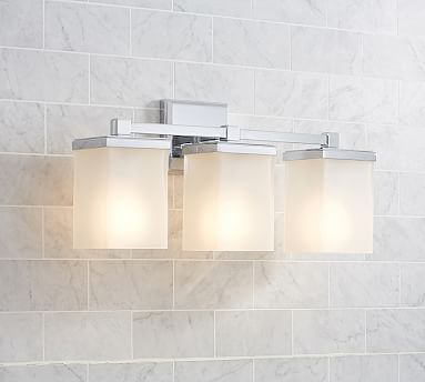 Alcott Triple Sconce Chrome Finish Bath Sconces Pinterest - Triple bathroom sconce