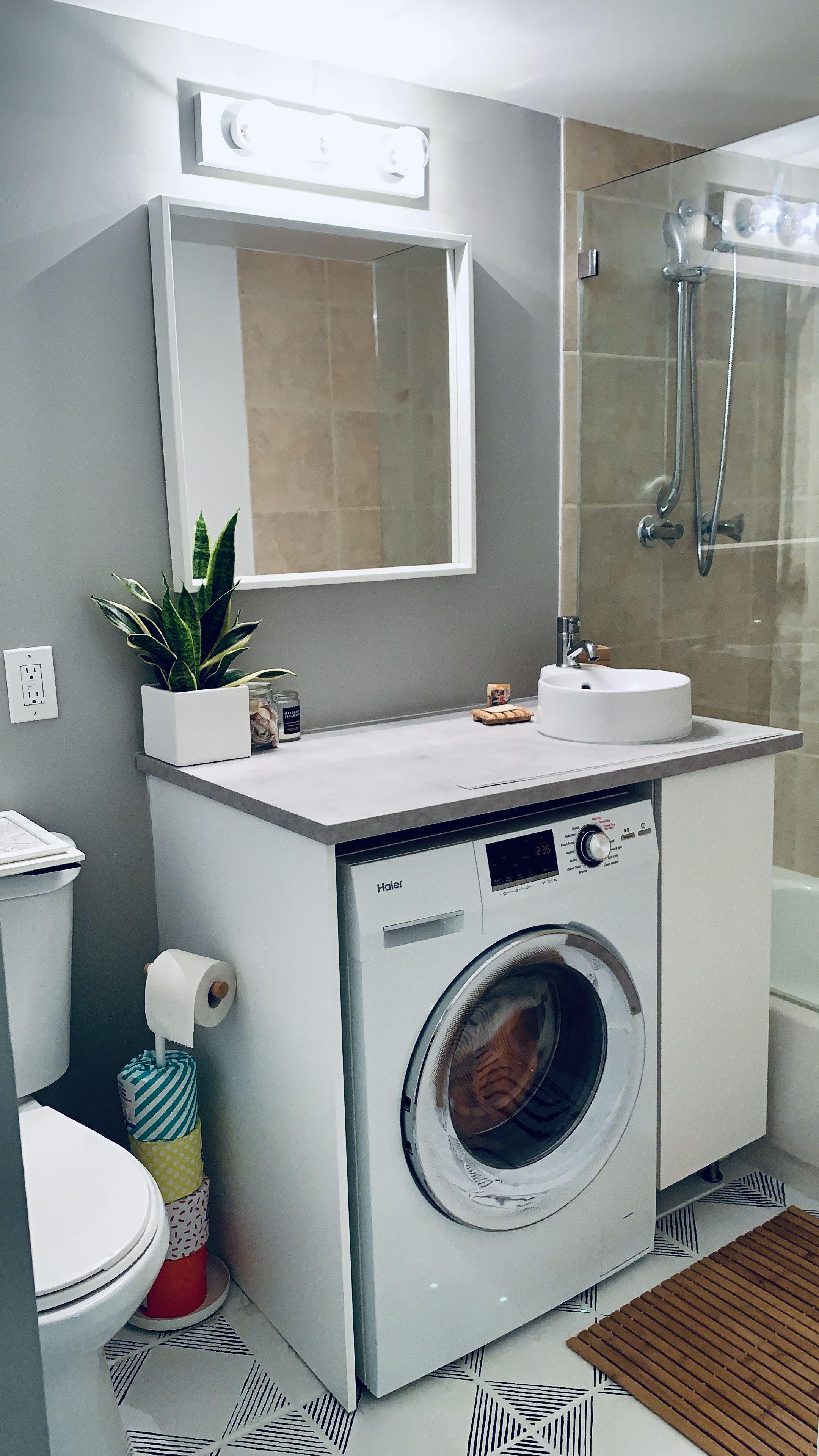 Updated Condo Bathroom Laundry Laundry Bathroom Combo Under Bathroom Sinks Laundry In Bathroom