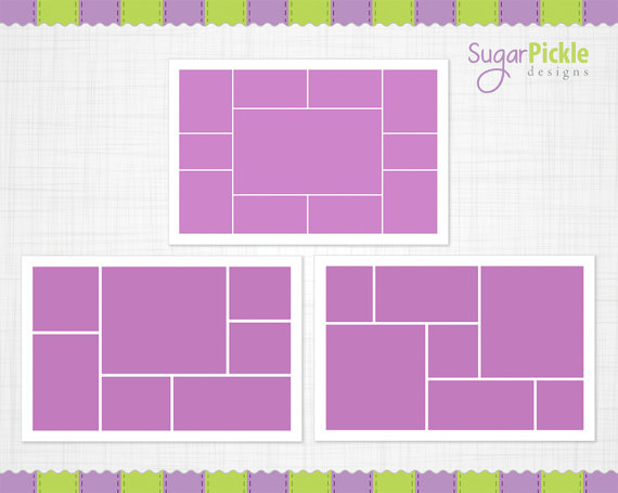 16x24 Storyboard Template, Digital Collage, 16 x 24 Collage, 16 x - digital storyboard templates
