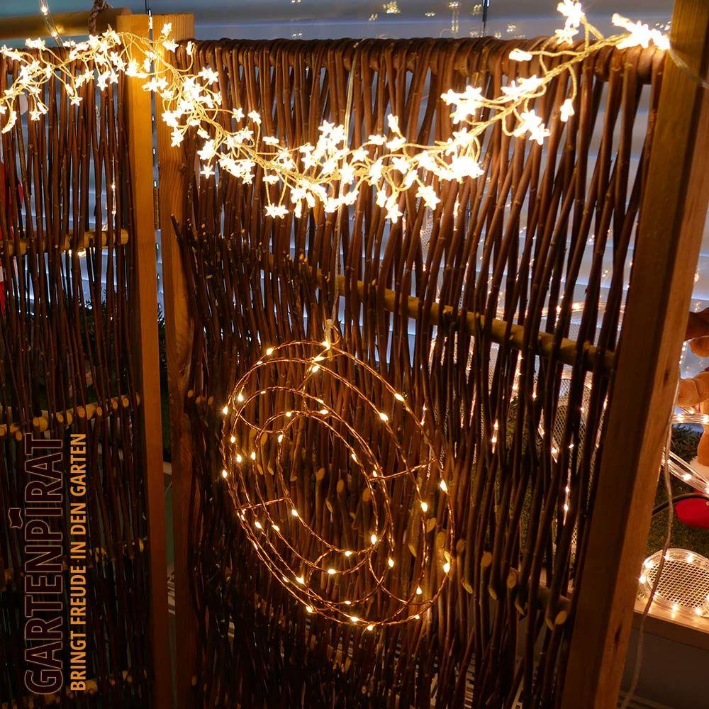 Kranz aus Draht mit LED beleuchtet Der Kupferdraht-Kranz kann als ...