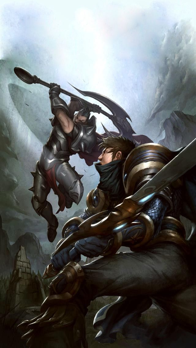 Darius Vs Garen HD Wallpaper