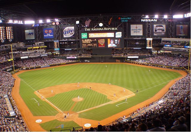 Watched The Diamondbacks Play At Bank One Ballpark Aka Chase Field Phoenix Az Chase Field Arizona Ballparks