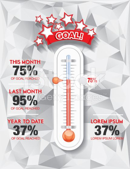 Fundraising Charity Goal Thermometer Templat RoyaltyFree Stock