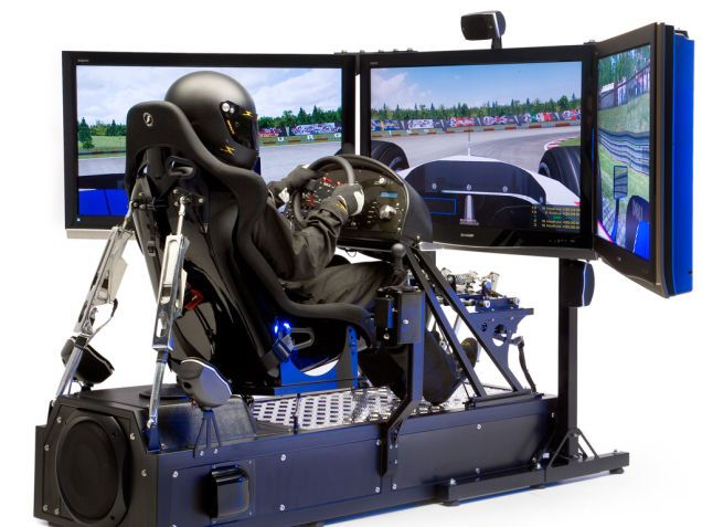 Motion Pro II Racing Simulator In Action, Still Cause For