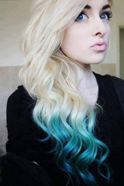 Pin By Paola Lara On Renkli Turquoise Hair Dip Dye Hair Blue Ombre Hair