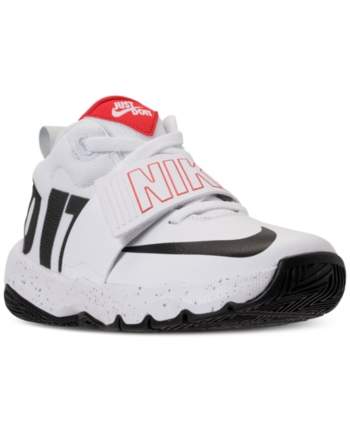 e617e06a2953c Nike Boys' Team Hustle D8 Just Do It Basketball Sneakers from Finish Line -  White 6.5