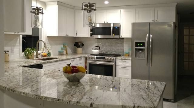 African Rainbow Granite Kitchen Remodel Granite Kitchen White Kitchen