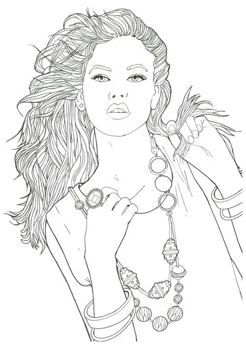 creatrice de mode fashion coloring book for adult by 70eastbooks - Fashion Coloring Pages