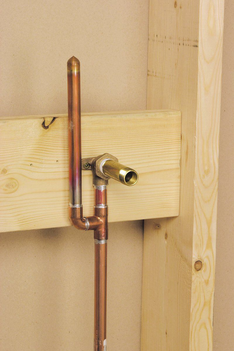 How To Run Copper Supply Lines Plumbing Installation Supply Lines Copper