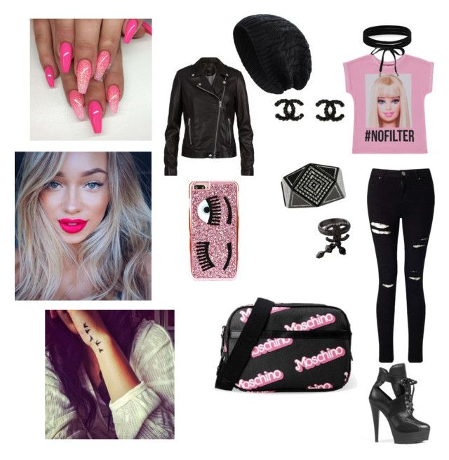 """""""Barbie 💕"""" by mcgoverncaitlinl on Polyvore featuring George, Miss Selfridge, River Island, Chanel, SET, Boohoo and Chiara Ferragni"""