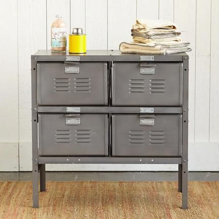 VINTAGE LOCKER, 4 DRAWER    Old School Lockers Offer Smart, New Storage  Possibilities In A Handy Craftsman Made Cabinet Thatu0027s Top Of Its Class.