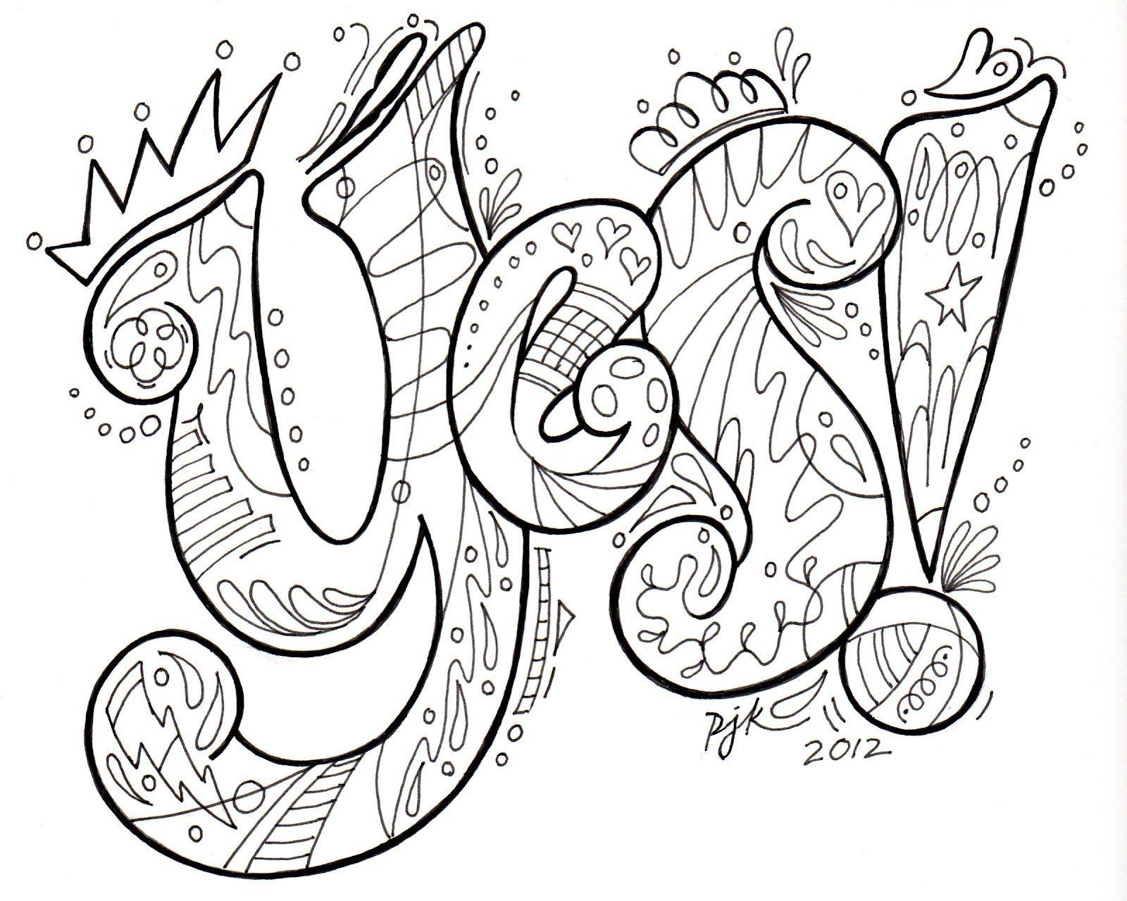 Lettering Doodle By Pamela Keravuori