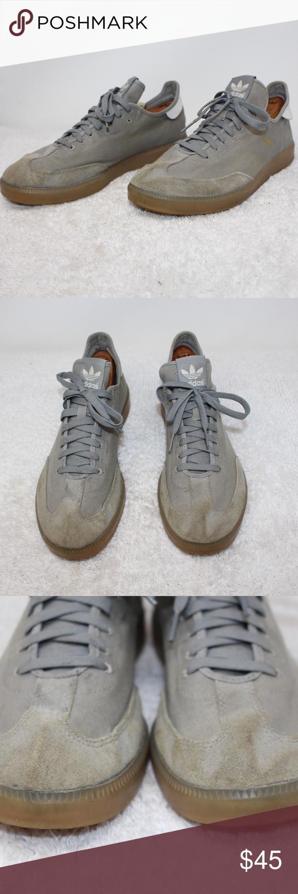 Adidas Samba Size 10.5 Gray Canvas