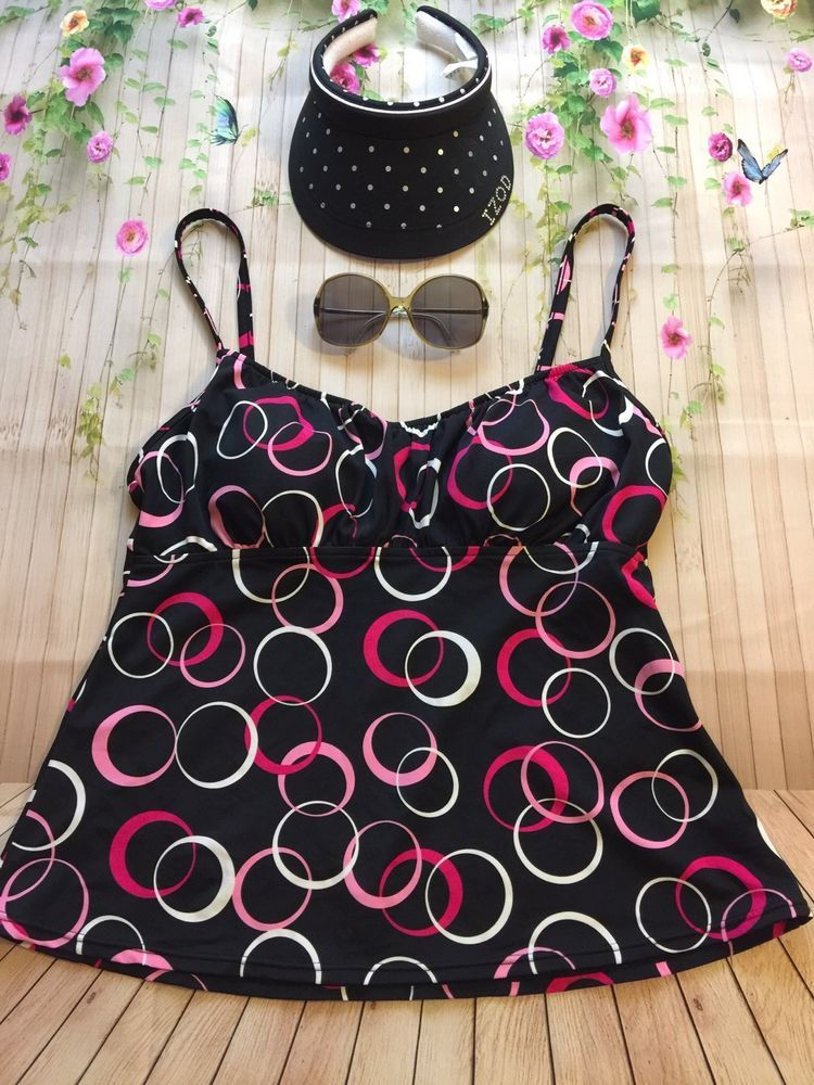 21584dadc396d Women's Jamaica Bay Tankini Top, Black With Colorful Circles. Hat And  Sunglasses Not Included. Top is in very good preowned condition. | eBay!
