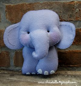 : Elefante avulso-para bastidor,kit higiene,mesa festa, etc