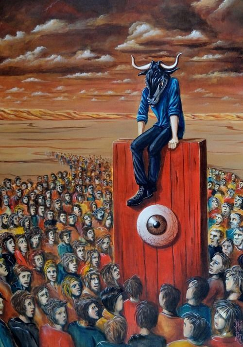 Luiz Morgadinho. Portuguese surrealist painter.