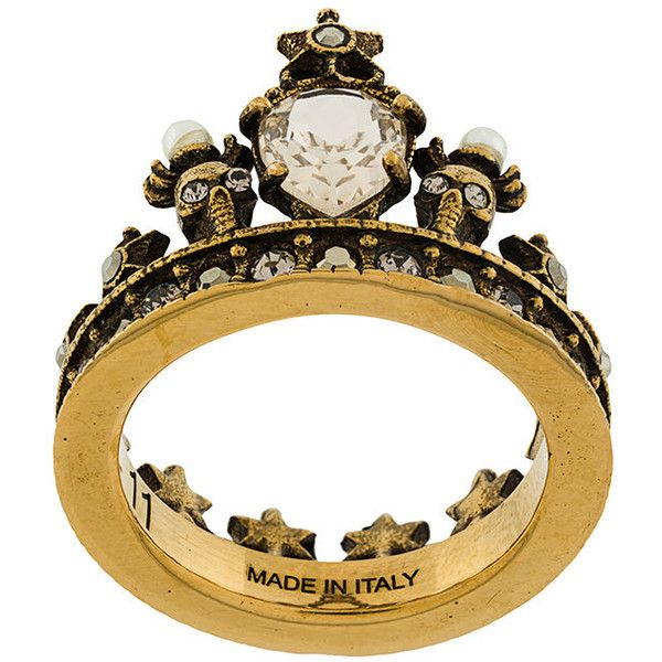 Alexander McQueen King crown ring ( 237) ❤ liked on Polyvore featuring  jewelry, rings, brass jewelry, star jewelry, alexander mcqueen jewelry, ... 6876e406630