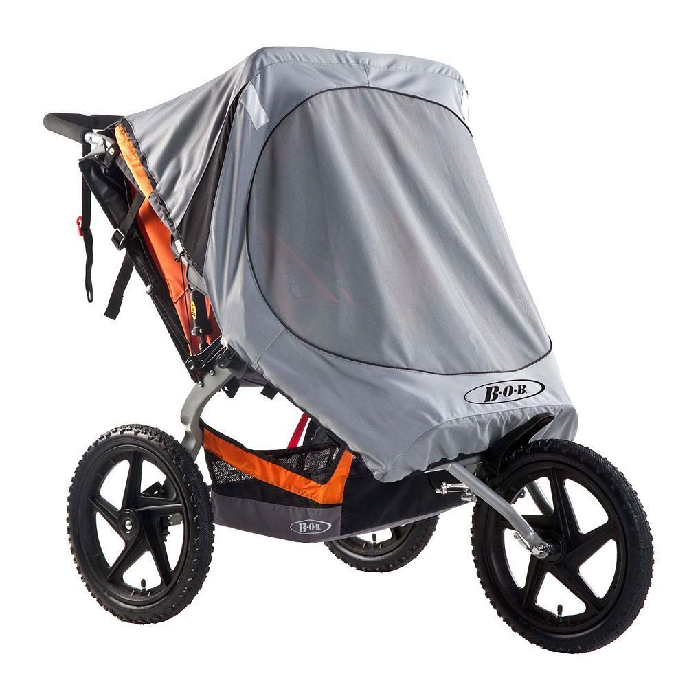 BOB Ironman Duallie Double Sun Shield, Grey Stroller