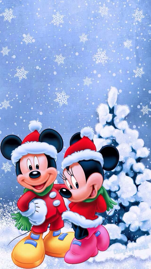 Topolino e minnie natale disney pinterest disney - Minnie mouse noel ...