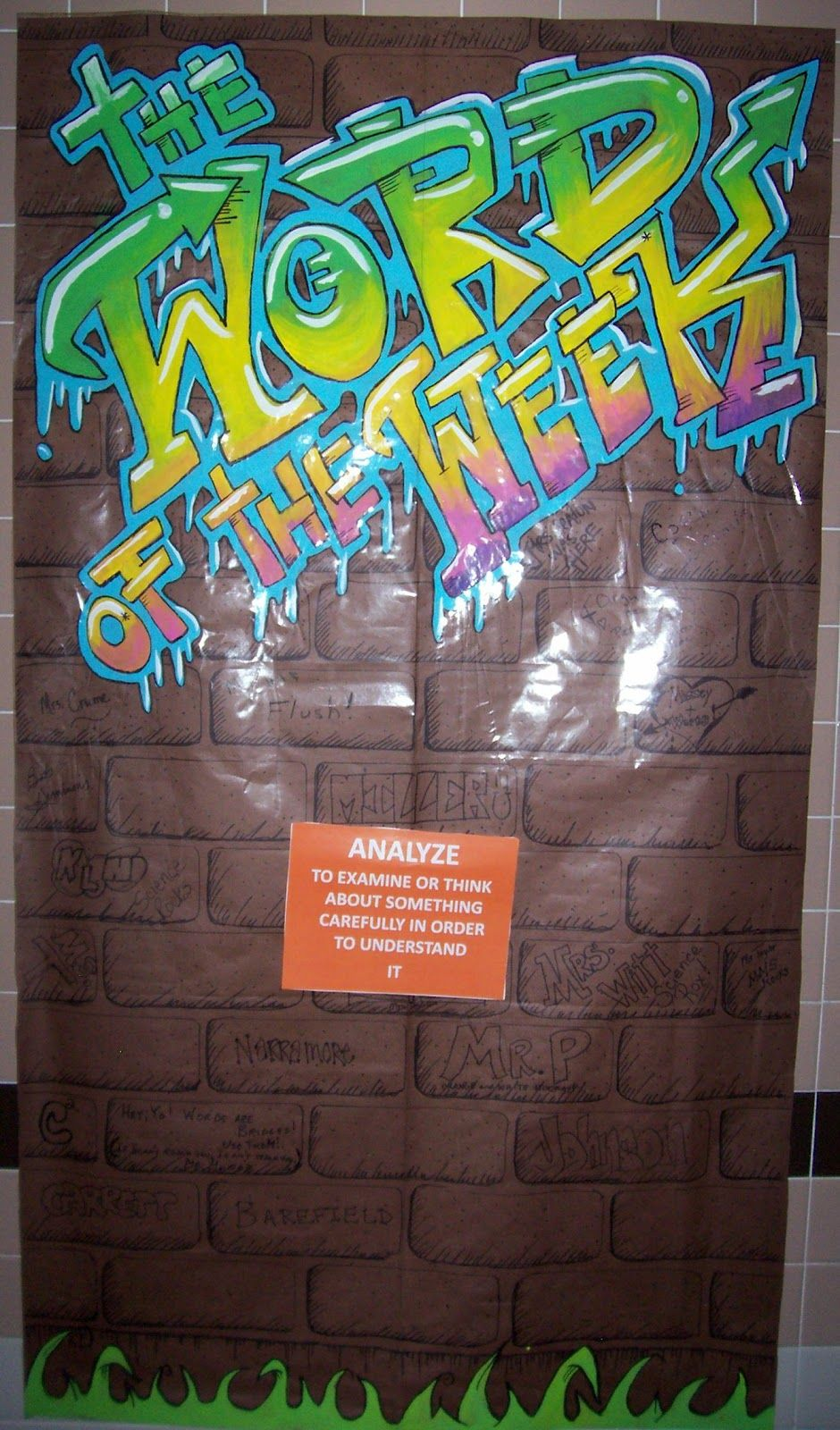 Love this i did a graffiti word wall in my last classroom
