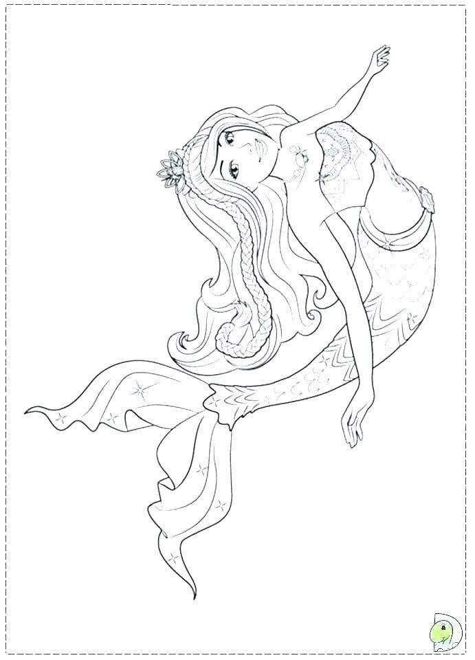 Barbie In A Mermaid Tale Coloring Pages Printable Mermaid Coloring