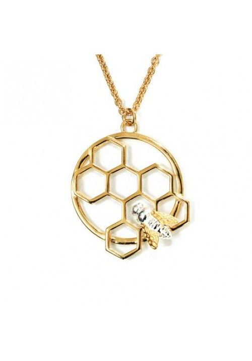 Honeycomb and honey bee pendant d pinterest honeycombs bees honeycomb and honey bee pendant aloadofball Images