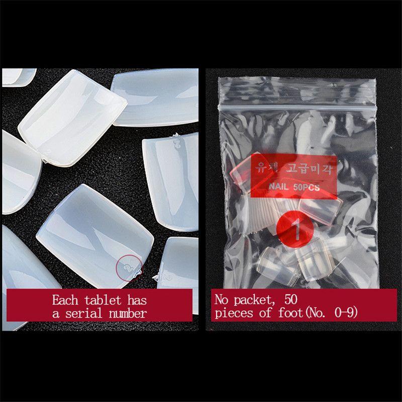 10 Size Full Cover False Toenails Toe Nail Tips 500 Pcs Fake Foot ...