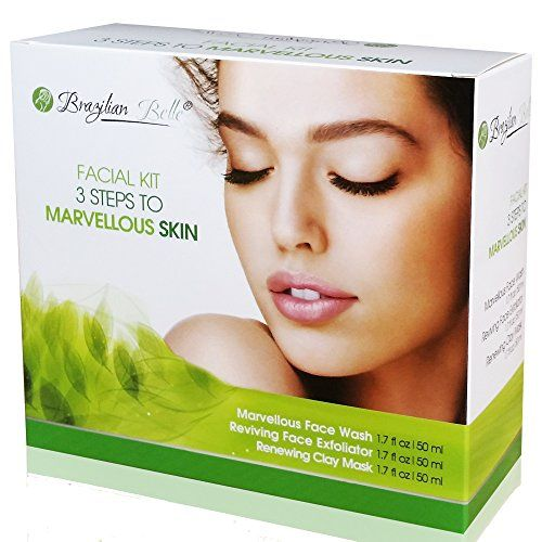 Brazilian Belle 3 in 1 Skin Renewing System The AntiAging Acne Blackhead and Wrinkle Treatment Everyones Talking About Includes  Bentonite Clay Mud Mask Facial Exfoliator  Face Wash 9oz >>> Visit the image link more details. (Note:Amazon affiliate link)