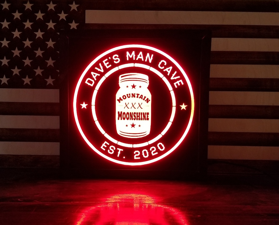 Custom Moonshine led signs in 2020 Led signs