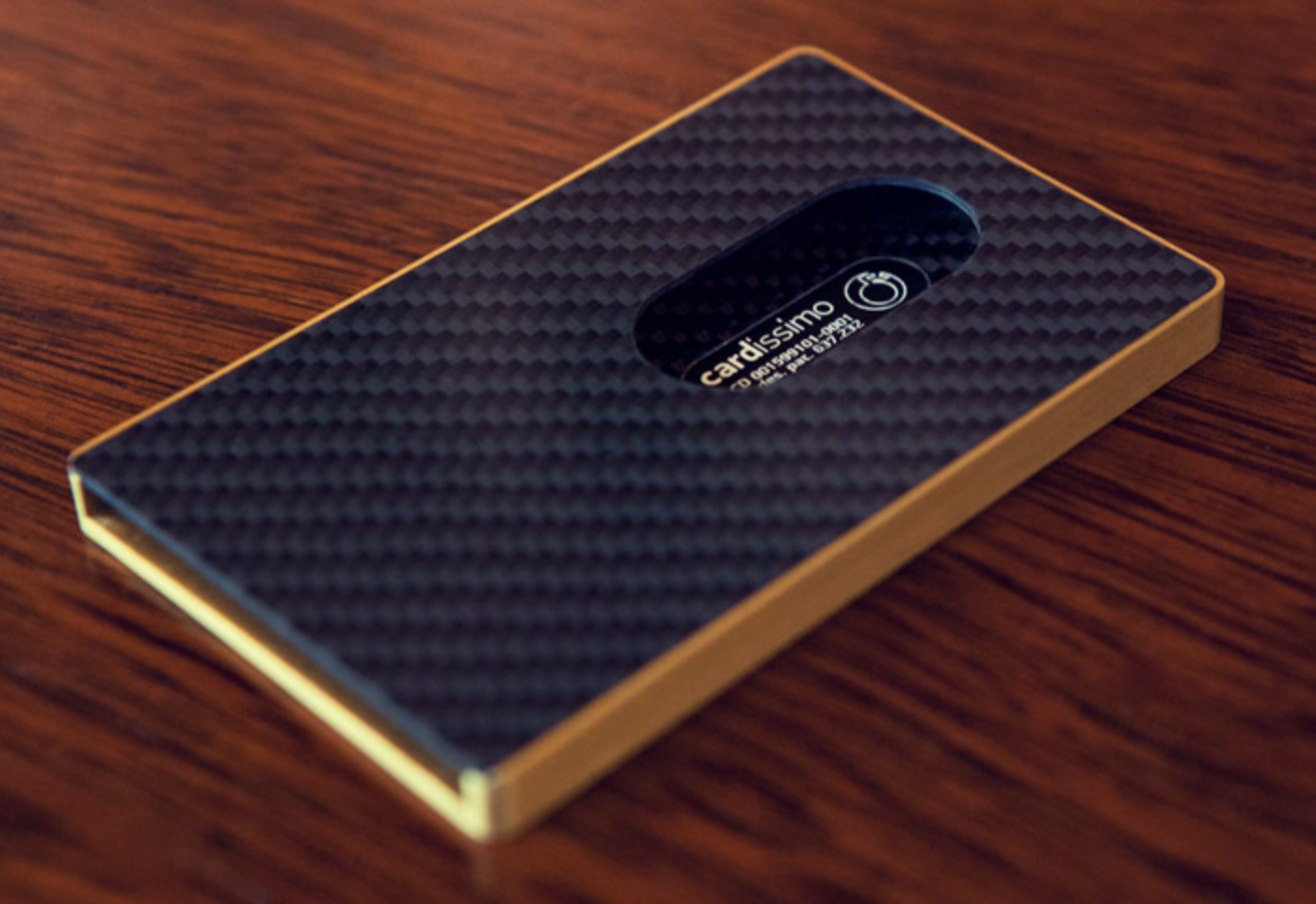 Cardissimo - Carbon Fibre Card Case | Cool Minimalist Wallets ...