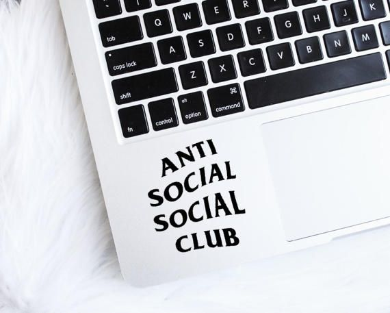 Anti social social club tumblr decal vinyl sticker sticker tumblr sticker