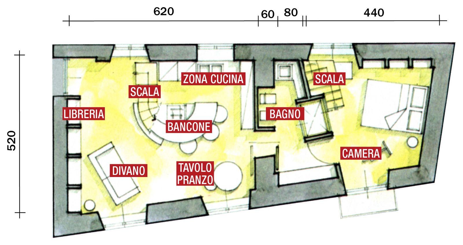Planimetrie case su due piani 60 mq planimetrie for Case layout planimetrie