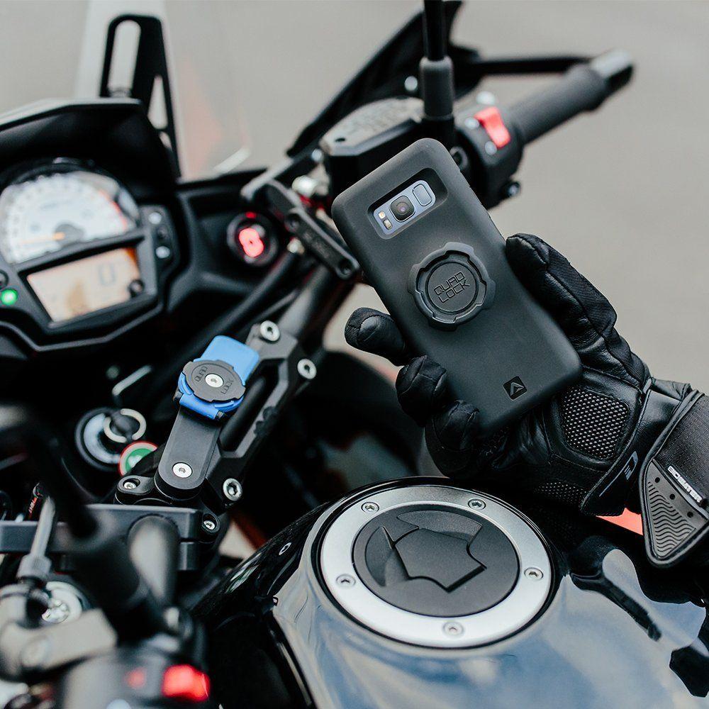 Quad Lock Motorcycle Mount Smartphone Halterung, Schwarz, One Size