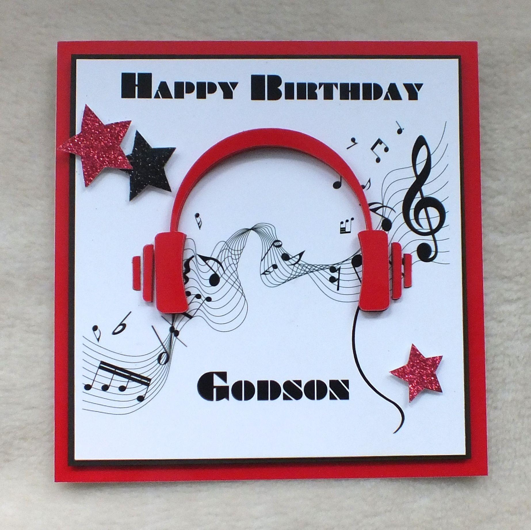 3d die cut headphones musicology godson birthday card handmade by 3d die cut headphones musicology godson birthday card handmade by mandishella bookmarktalkfo Images