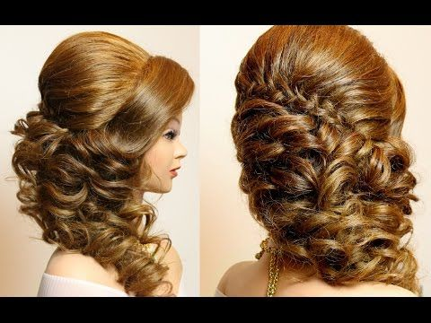 65506c031c74 Bridal hairstyle with curls for long hair tutorial - YouTube Letní Účesy
