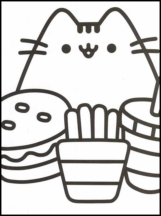 Pusheen 79 Printable Coloring Pages For Kids Cartoon Coloring Pages Coloring Pages Online Coloring Pages