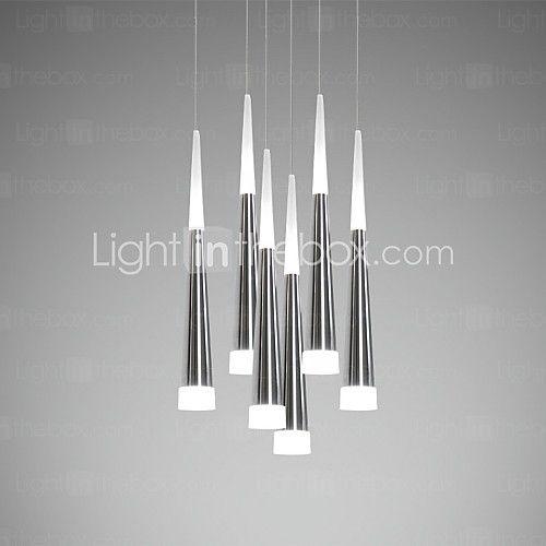 7 lámparas colgantes , moderno / contemporáneo galvanizado ...