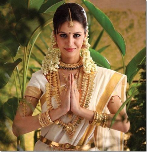 Kerala Wedding Hairstyles For Big Face: How To Do Kerala Bridal Makeup