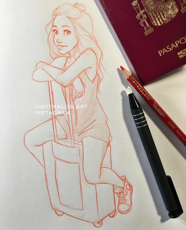 Pin Uzivatele Barbora Na Nastence Judit Mallol Drawings Art