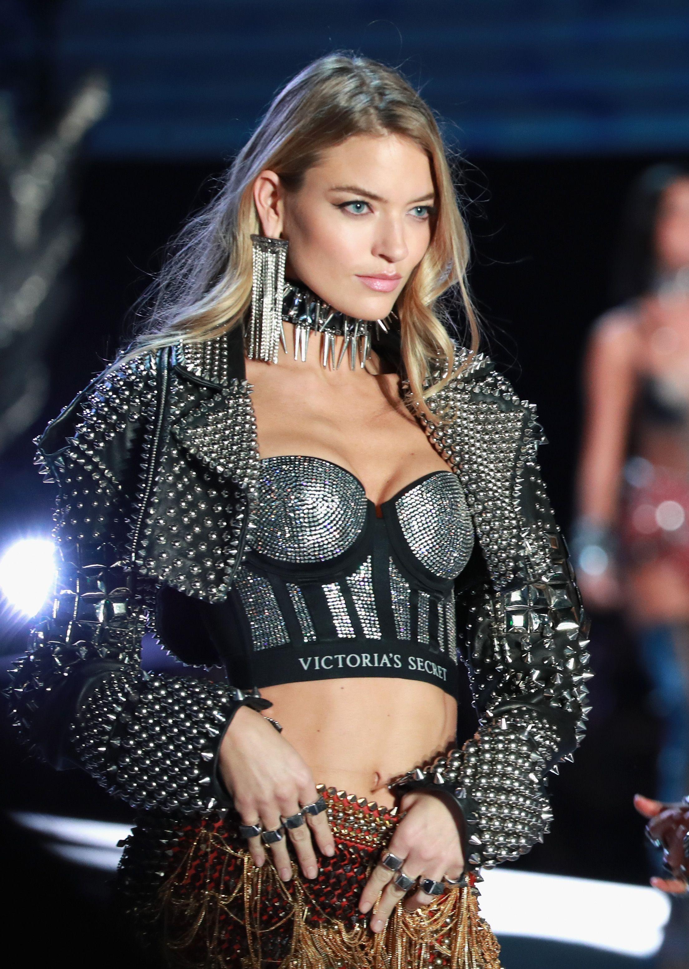 534453384e Martha Hunt walks the runway in Balmain x Victoria S Secret ...
