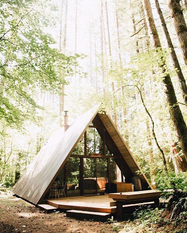 A-frame cabin in Skykomish, Washington. photo by Jessica Olm ...